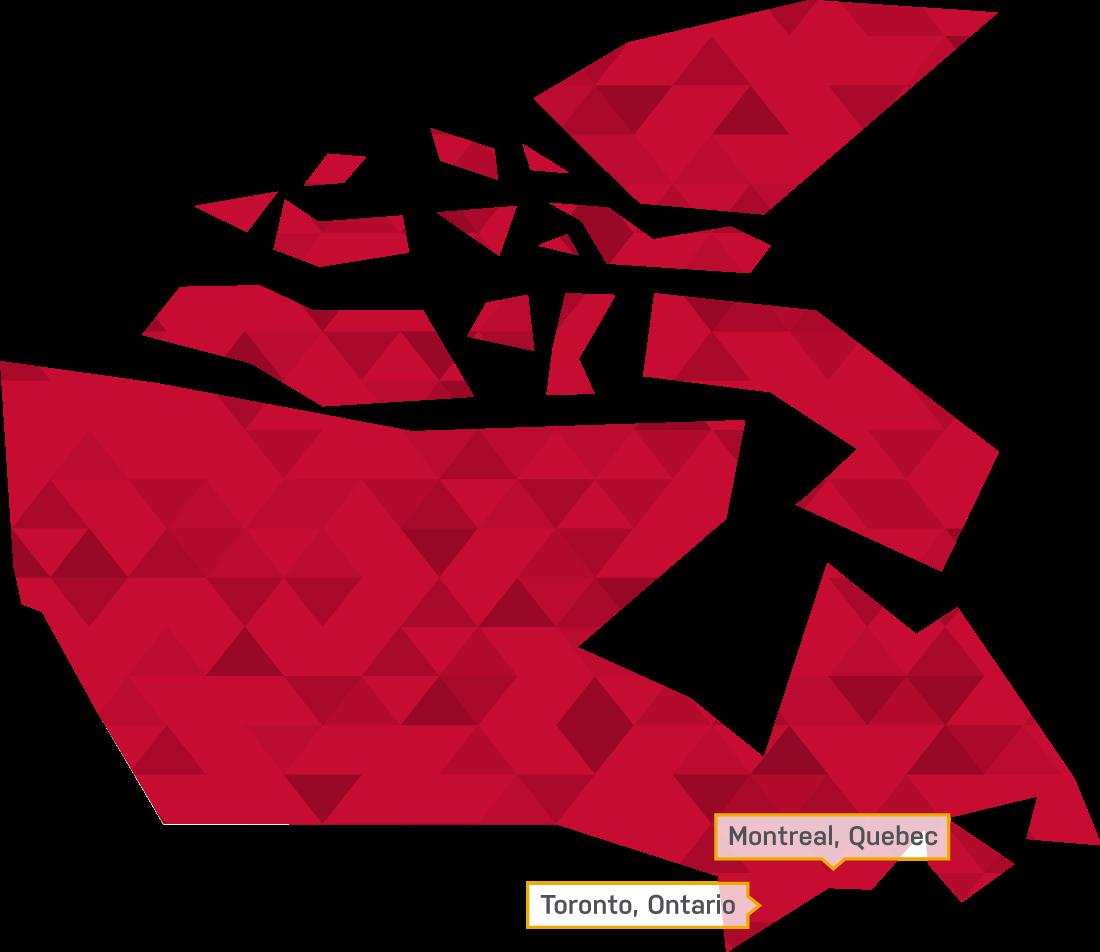 Advarra Canada Map
