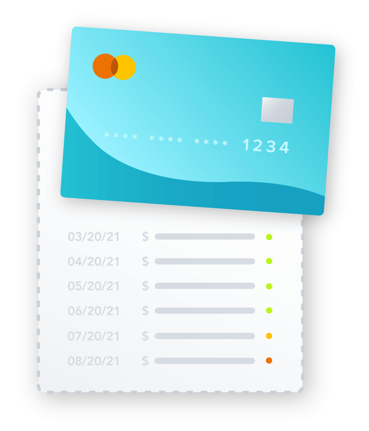 Debit Card Payment and Payment log