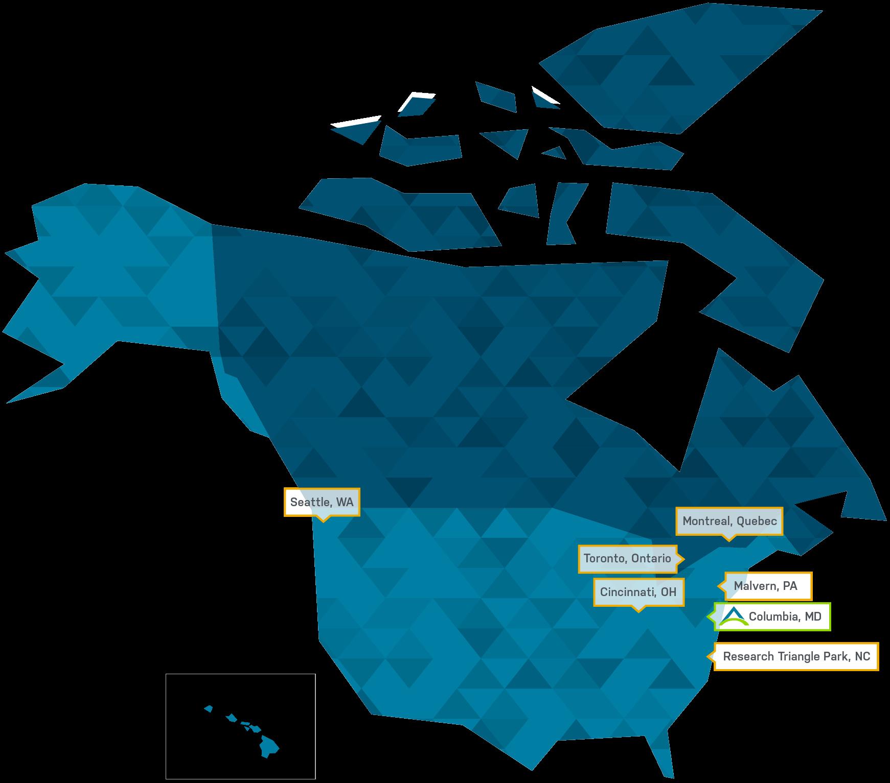 Advarra Reach Map